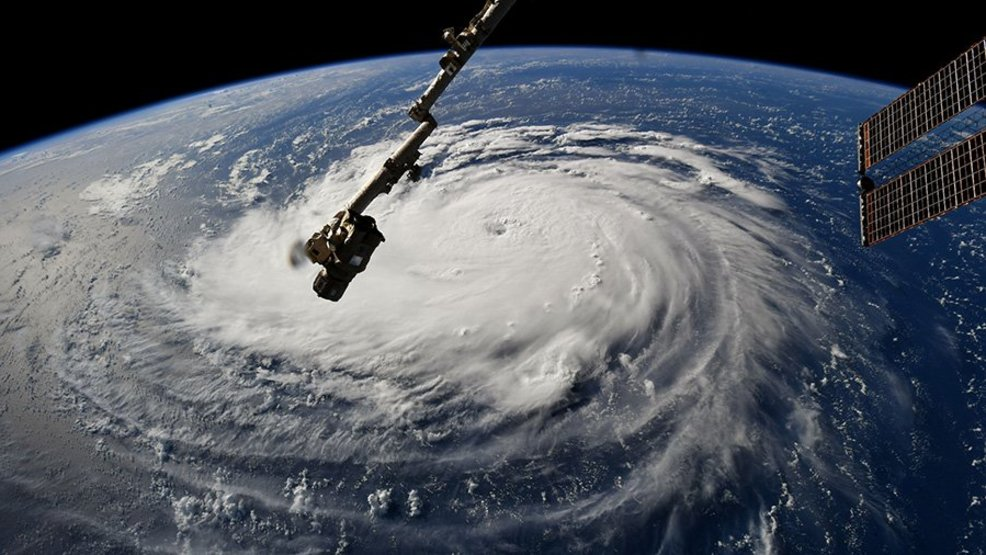 Astronauts get incredible views of dangerous Hurricane Florence