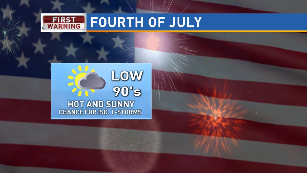 A look ahead at the Fourth of July forecast