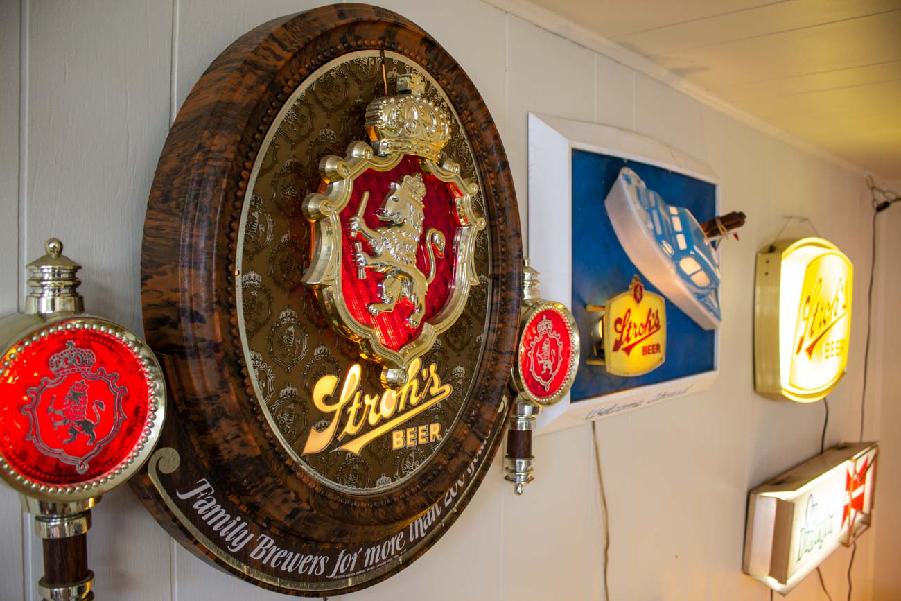 Jeff's collection of beer lamps / Image: Katie Robinson, Cincinnati Refined // Published: 12.14.20