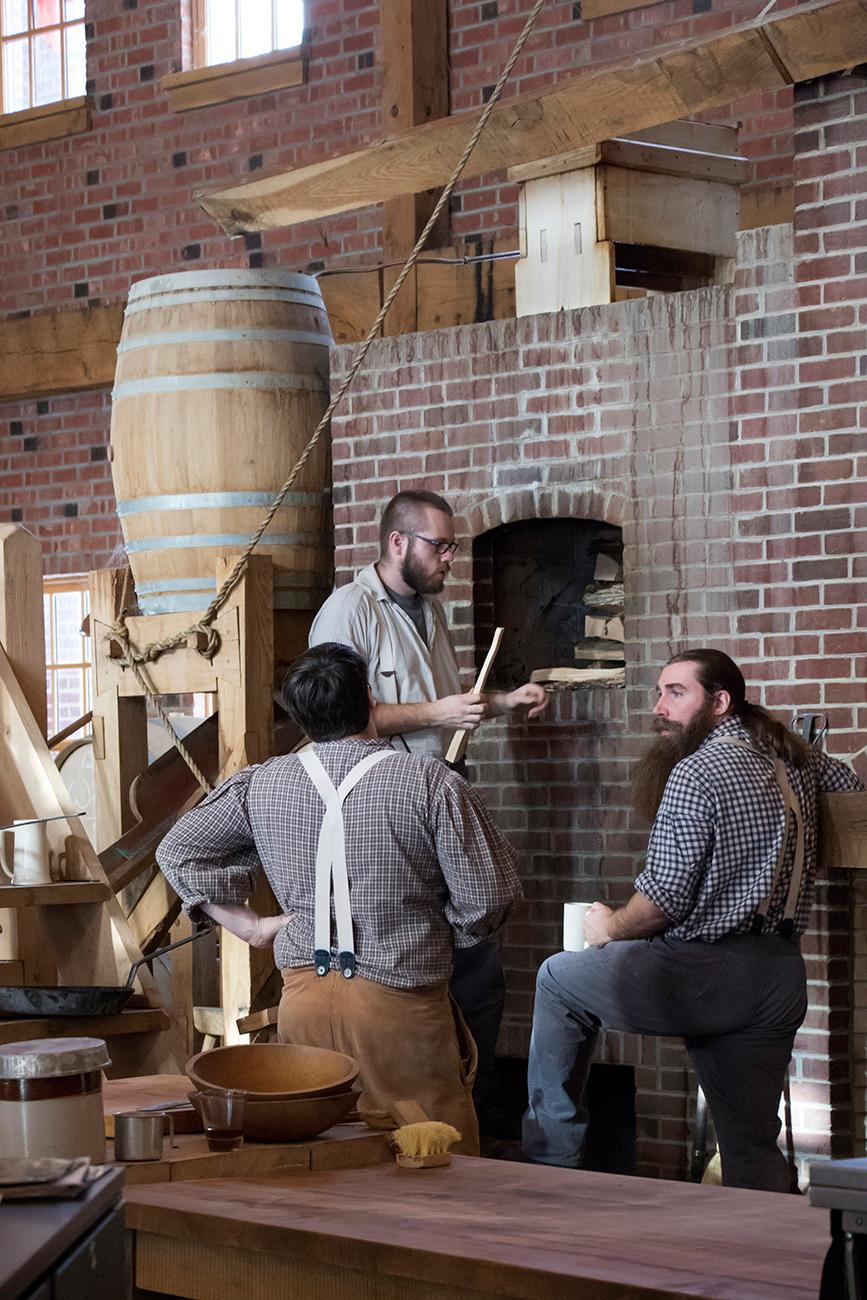 "Pictured: Costumed staff, dressed as if they were in the 1850s / Story: ""Dayton's Carillon Brewing Makes Beer The Old Fashioned Way"" / Image: Allison McAdams // Published: 2.2.18"