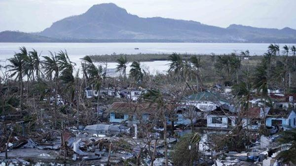 Tacloban city, devastated by powerful Typhoon Haiyan, is seen in Leyte province, central Philippines