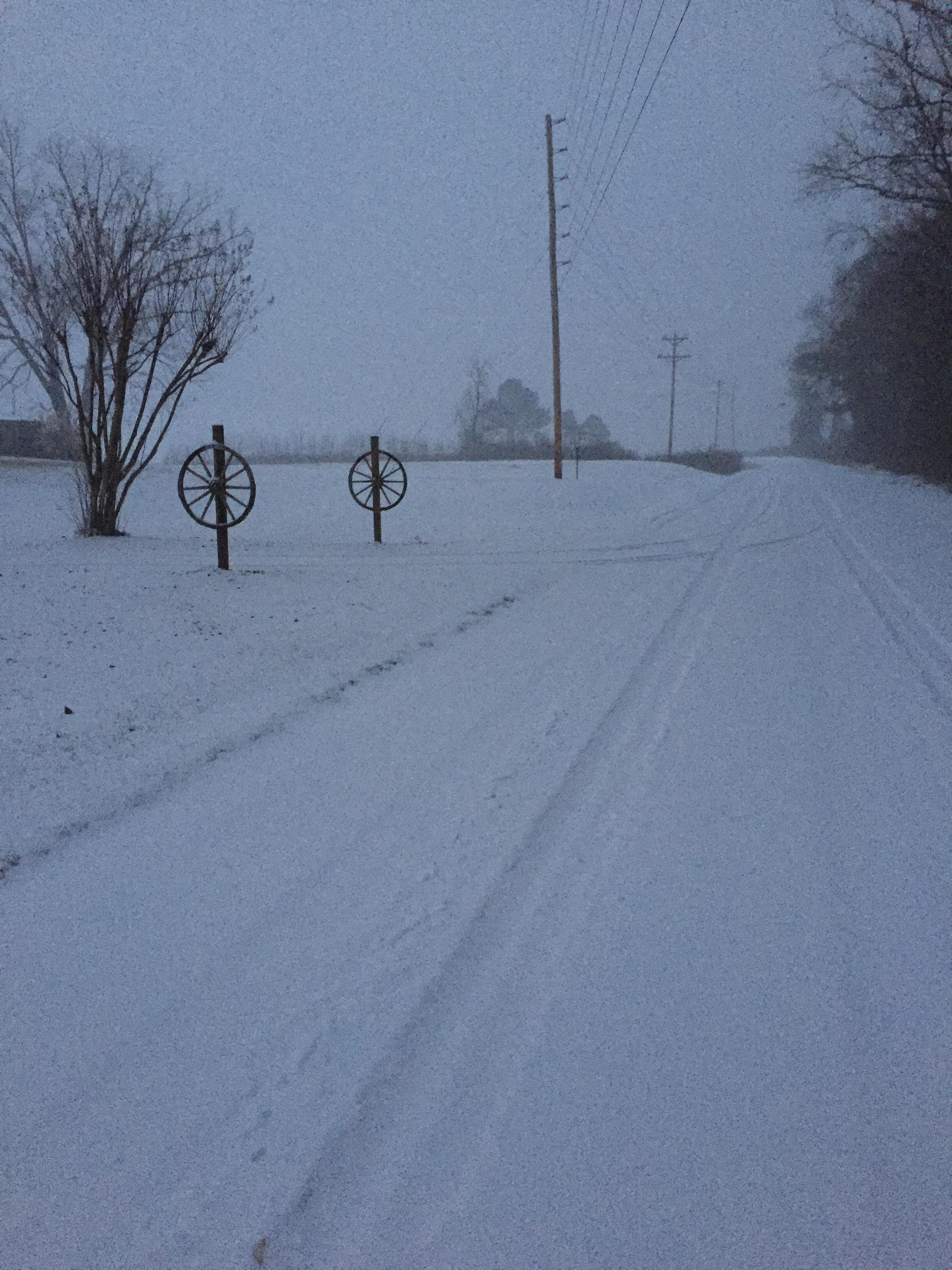 Snow in the country from Latta (Submitted by Allyson Luisetti)