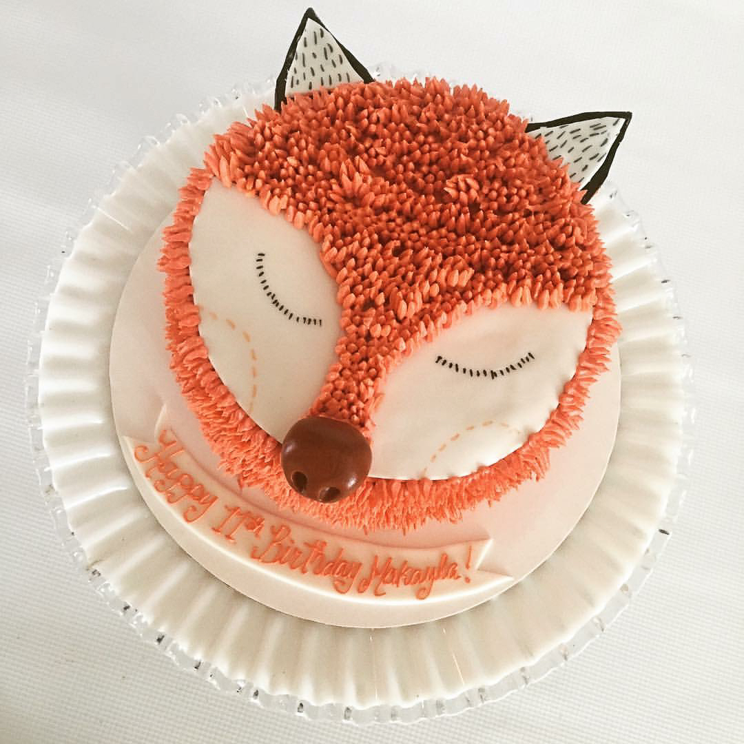 Sleepy Fox cake / Image courtesy of Oliver's Desserts // Published: 3.17.18