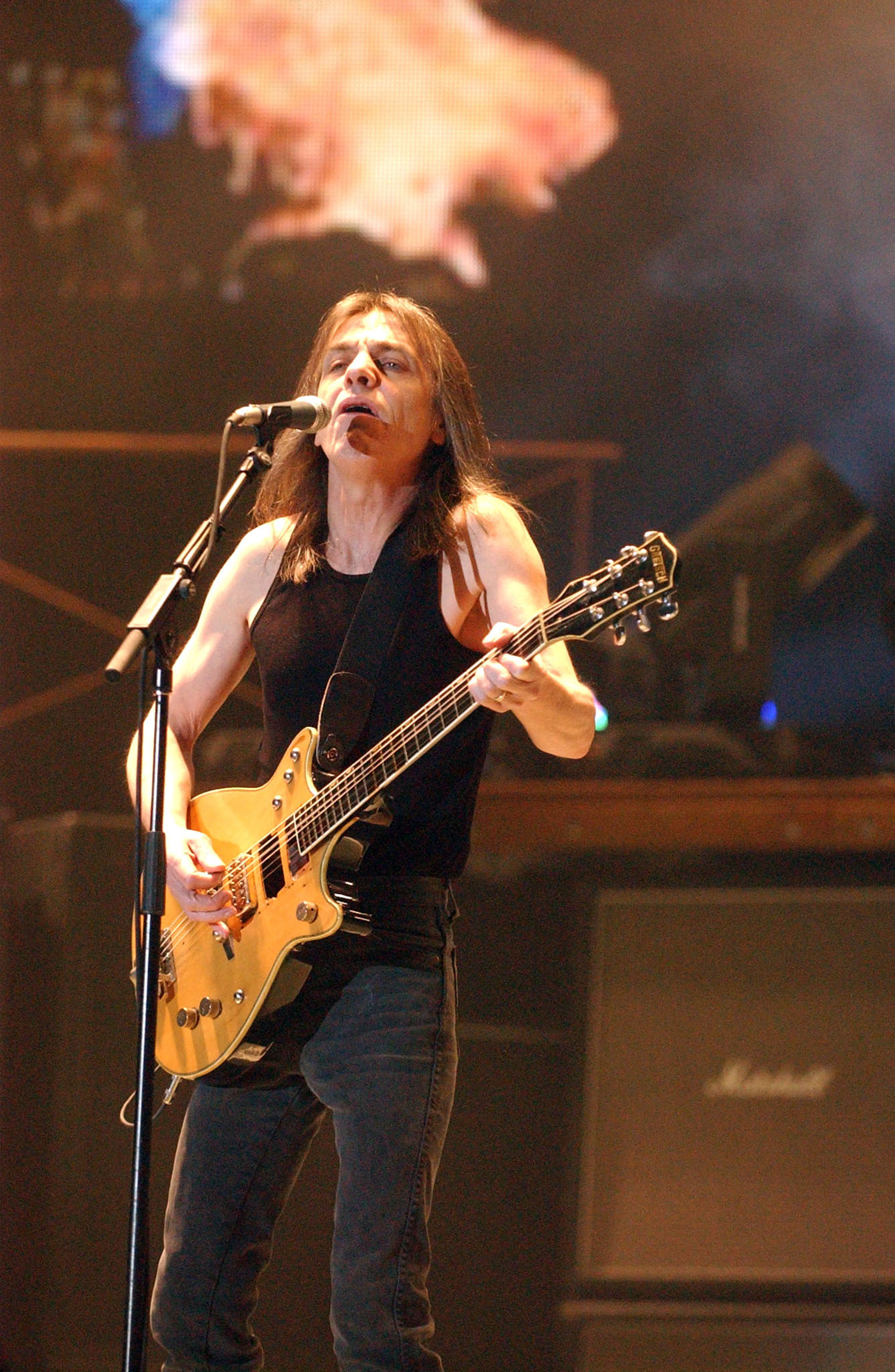 Malcolm Young                  AC/DC perform at the Ahoy stadium during their Black Ice World Tour 2008-2009                  Rotterdam                                    Featuring: Malcolm Young                  Where: Holland                  When: 13 Mar 2009                  Credit: WENN