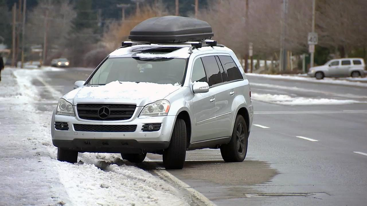 A number of cars were observed to be abandoned Tuesday in the Portland area. (KATU Photo)