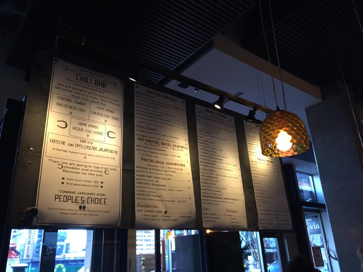The menu at Assembly Juice. (Image: Frank Guanco)