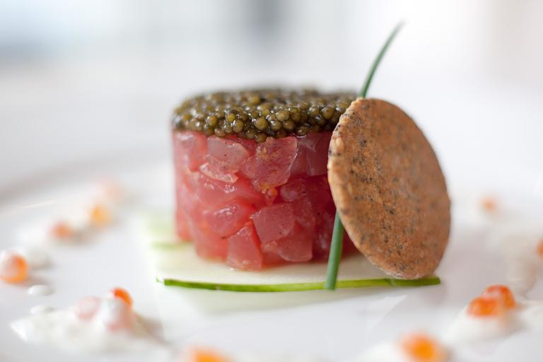 The tuna tartare at Bas Rouge will likely never come off the menu, a server told us. (Photo by Timothy Devine)