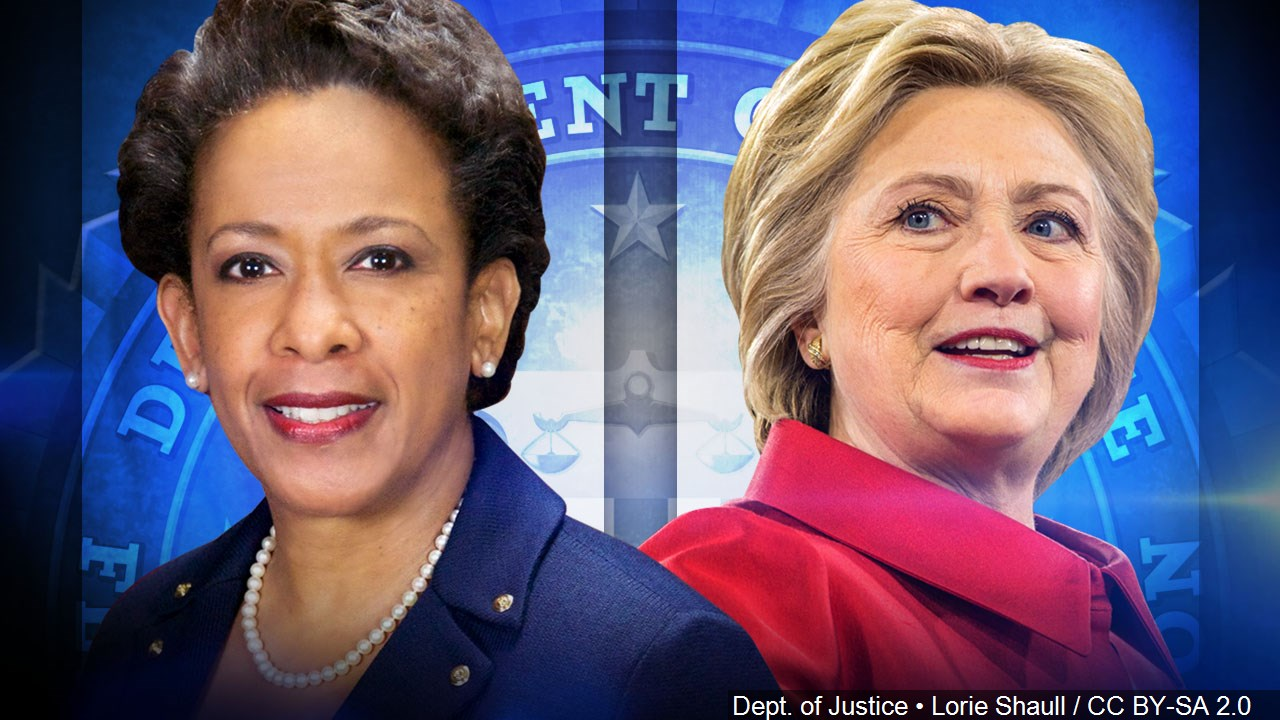 Loretta Lynch and Hillary Clinton (MGN Online)