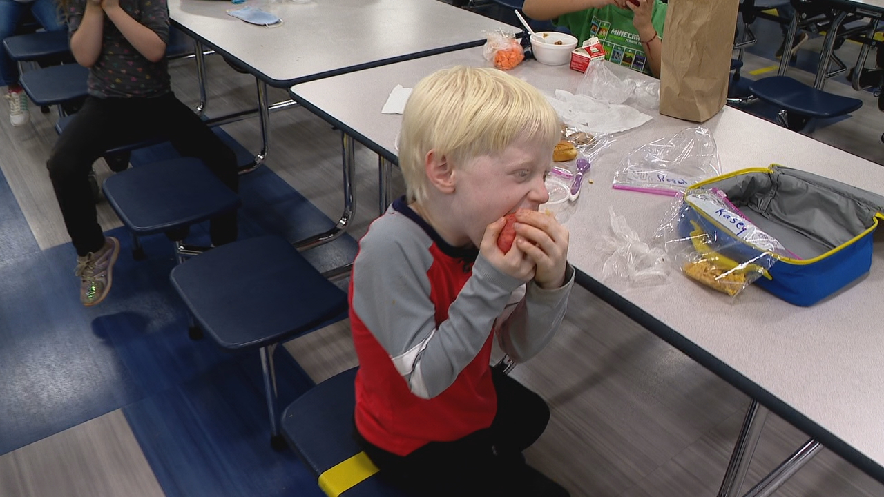 For the past three years, Avery's Creek has honored apples with Apple Crunch Day. (Photo credit: WLOS staff)