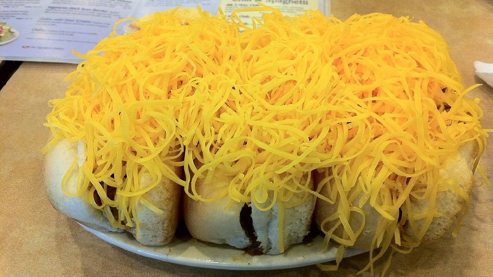 Skyline Chili giving away FREE Cheese Coneys on Opening Day!