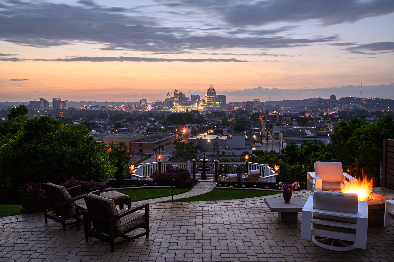 When David came to Cincinnati 30 years ago, he settled in Mt. Adams. He searched for the perfect view of the city before finally landing in Newport. With a view like this off his back deck, it's easy to see why he chose 15th Street. / Image: Phil Armstrong, Cincinnati Refined // Published: 5.31.19