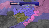 Winter weather alerts for parts of the area through Monday