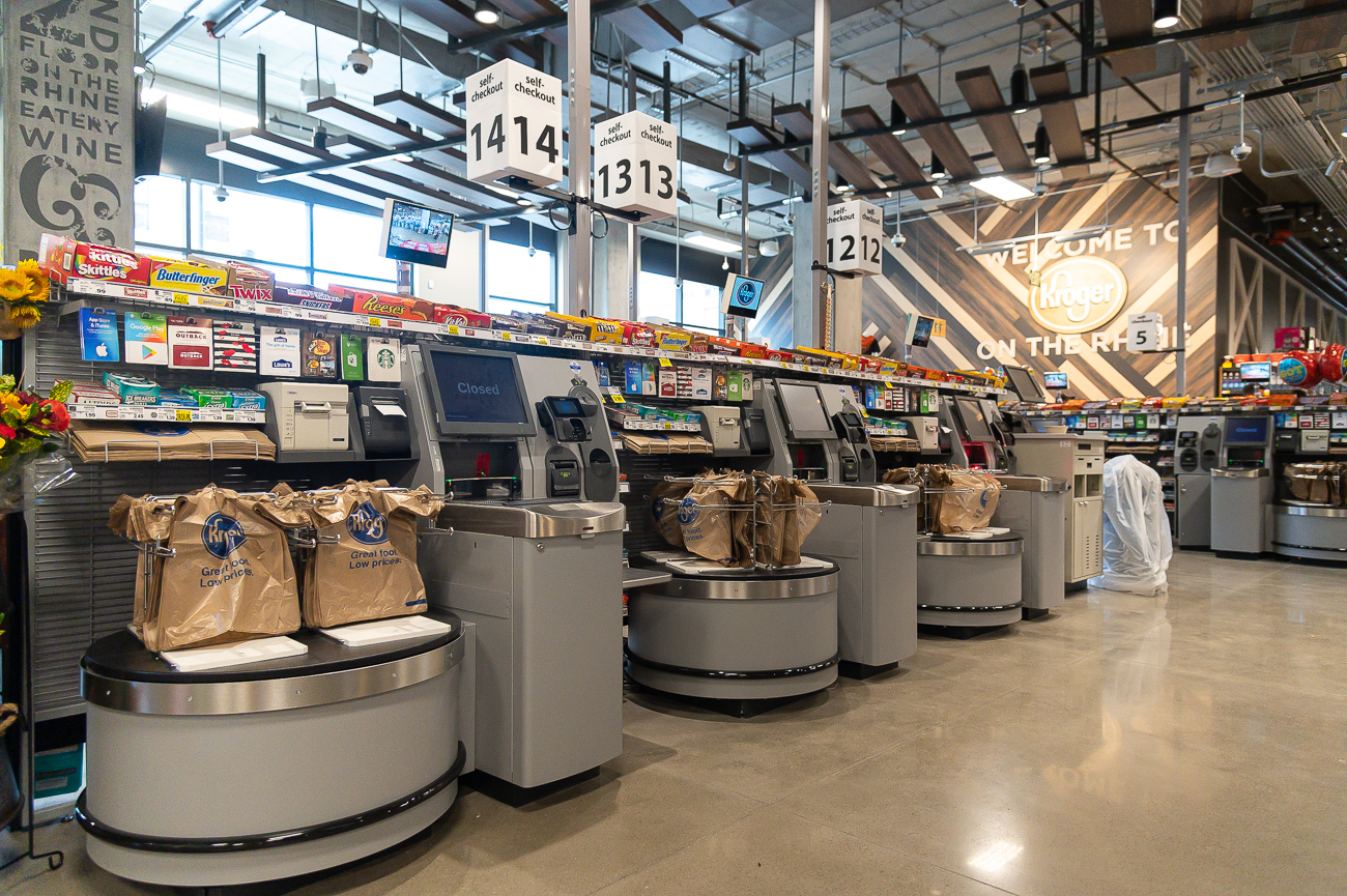 The store has 14 checkouts, 10 of which are self-checkouts. / Image: Phil Armstrong, Cincinnati Refined // Published: 9.24.19