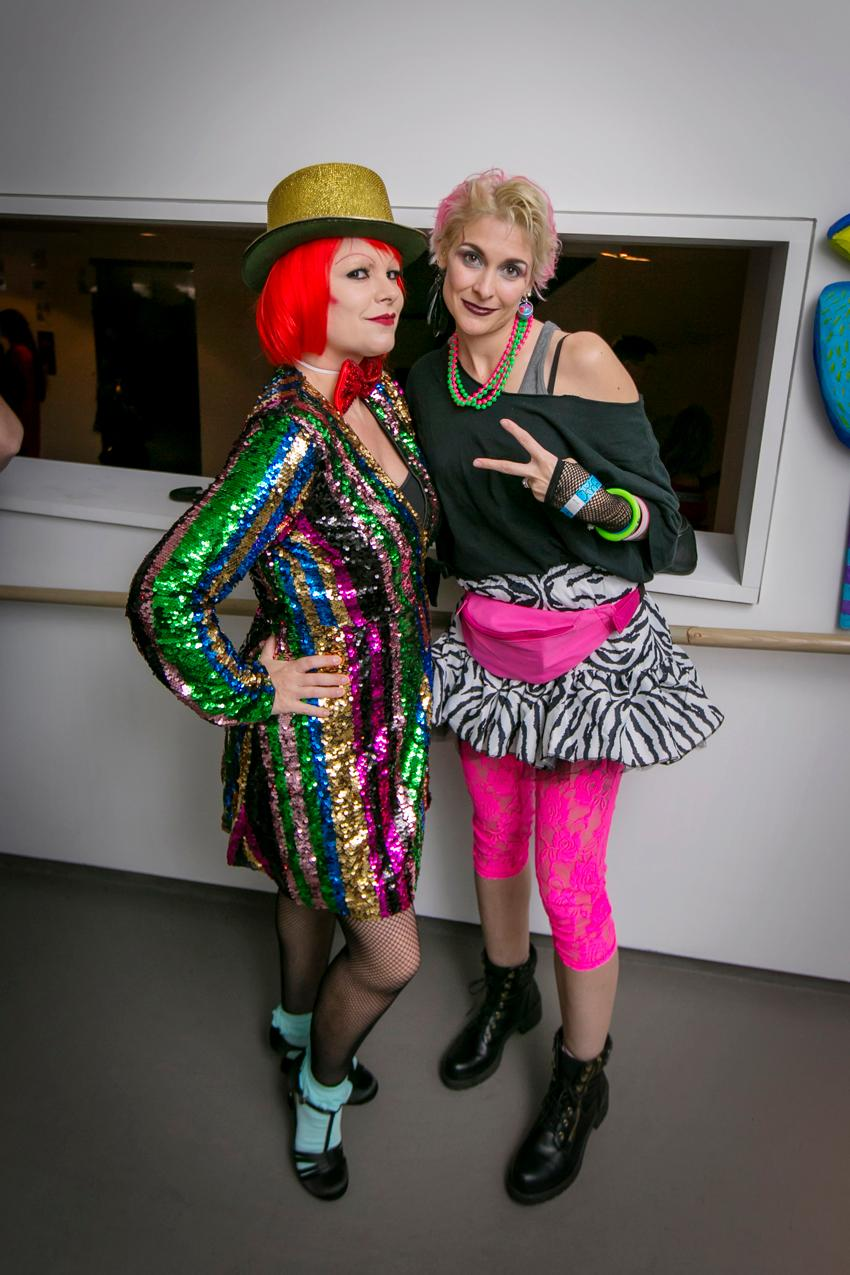 Michelle Hartman and Cindi Lauper at the 21c Museum Hotel Halloween party / Image: Mike Bresnen Photography // Published: 11.1.19