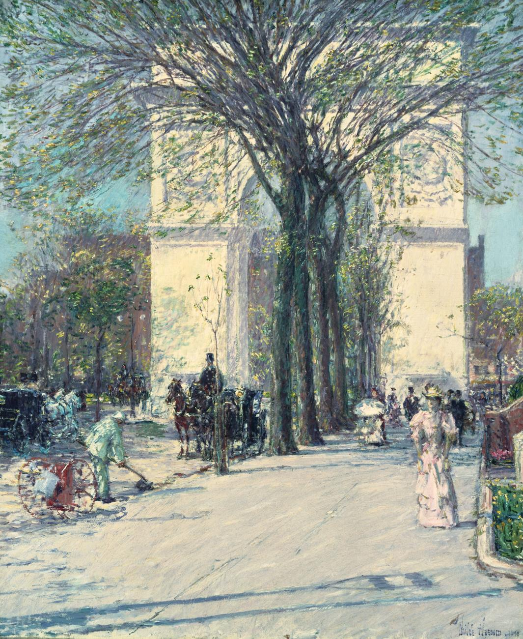 'Washington Arch Spring' (1890) by Childe Hassam / Image courtesy of the Taft Museum of Art // Published: 5.1.19