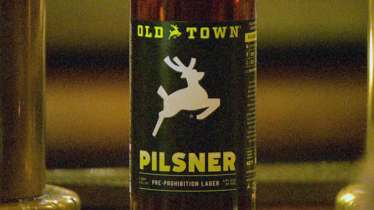 Old Town Pizza & Brewing uses the white stag as a trademark in the category of beer, wine and alcohol. (KATU Photo)