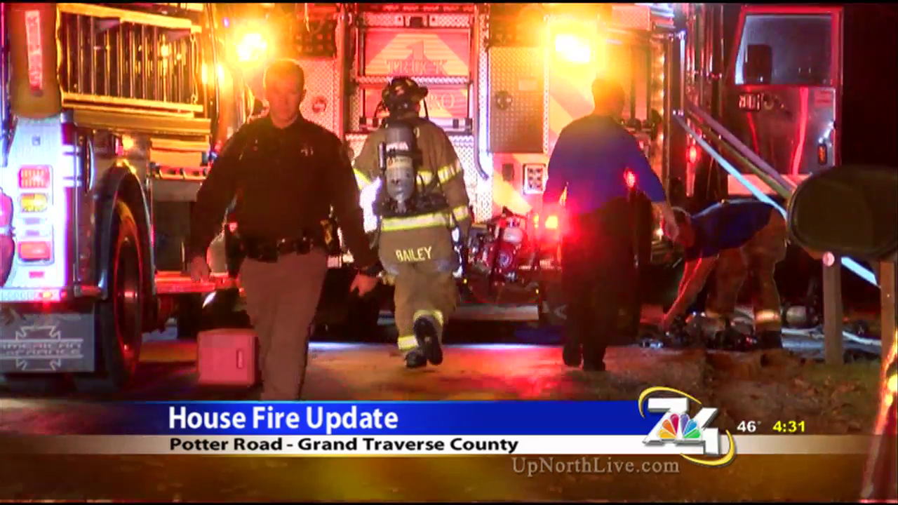 Three people are in the hospital after a house fire Monday night.{ }