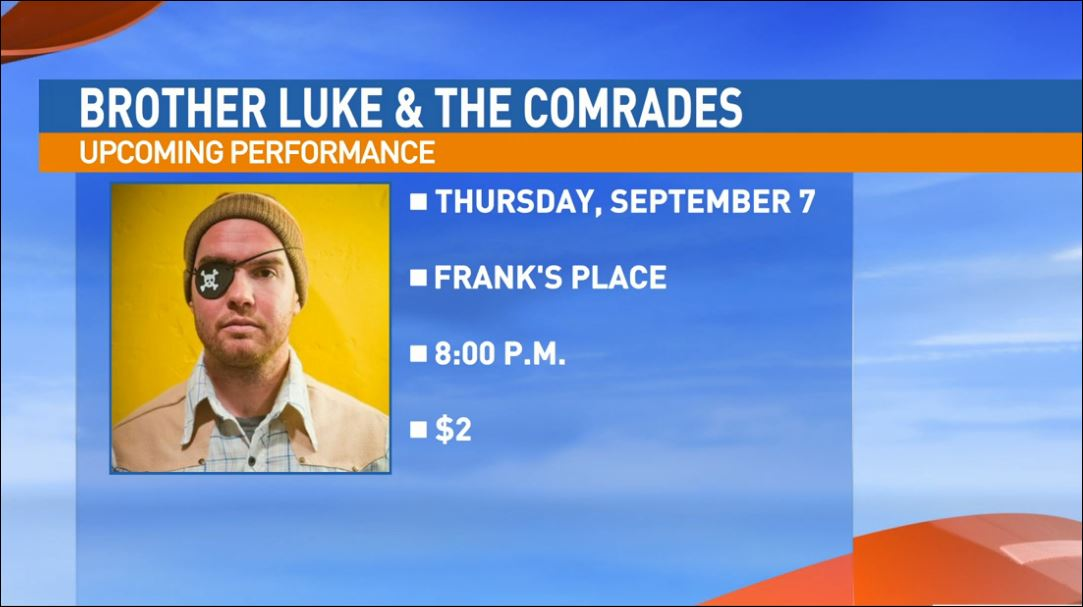 Brother Luke and The Comrades will be performing live at Frank's Place, 1432 Fulton St. in downtown Fresno, for ArtHop on Thursday, September 7th.