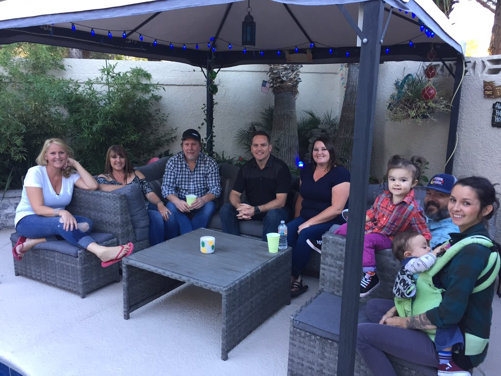 Faith's Rose family at Backyard Tailgate. 10/06/17 (Chloe Beardsley | KSNV)
