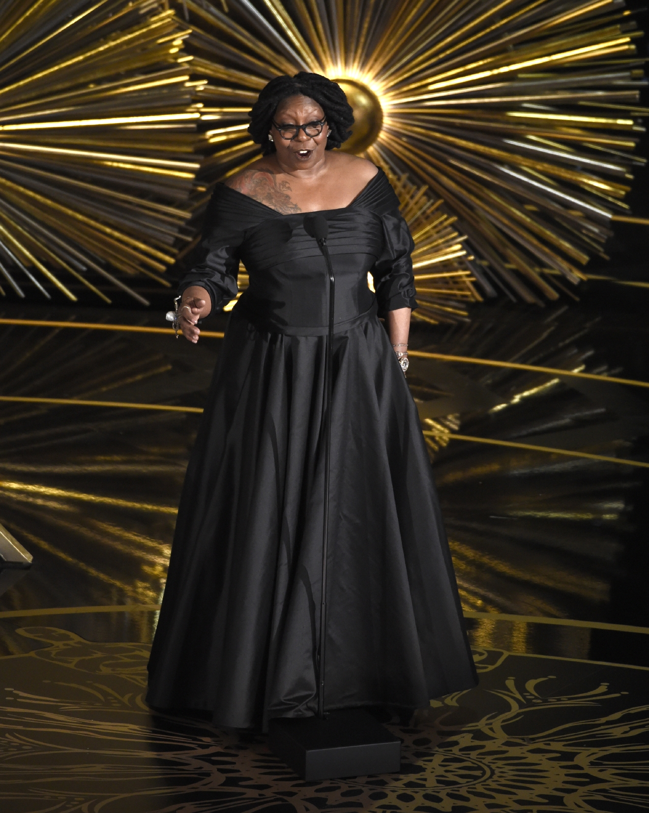 Whoopi Goldberg speaks at the Oscars on Sunday, Feb. 28, 2016, at the Dolby Theatre in Los Angeles. (Photo by Chris Pizzello/Invision/AP)