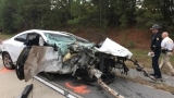 One person dead, four injured in car accident on I-530