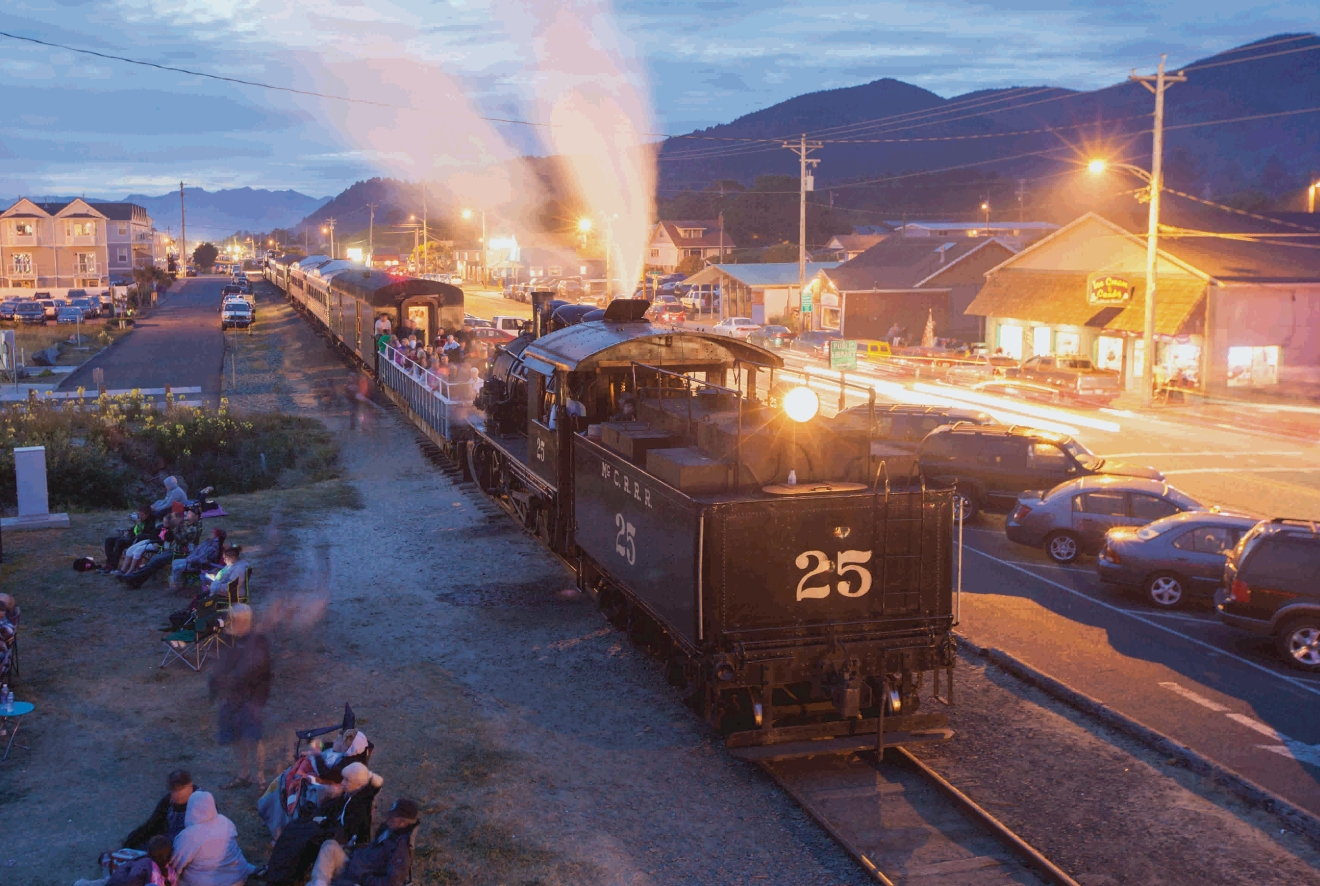 Try a ride on the Oregon Coast Scenic Railroad to take in the local scenery. Photo Credit: Visit Tillamook Coast
