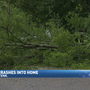 Tree falls on home in Chattanooga during fast and furious storms