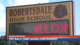 Robertsdale pep rally sign causes controversy