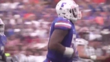 Caleb Brantley's attorneys say he is the victim as prosecutors consider assault charge
