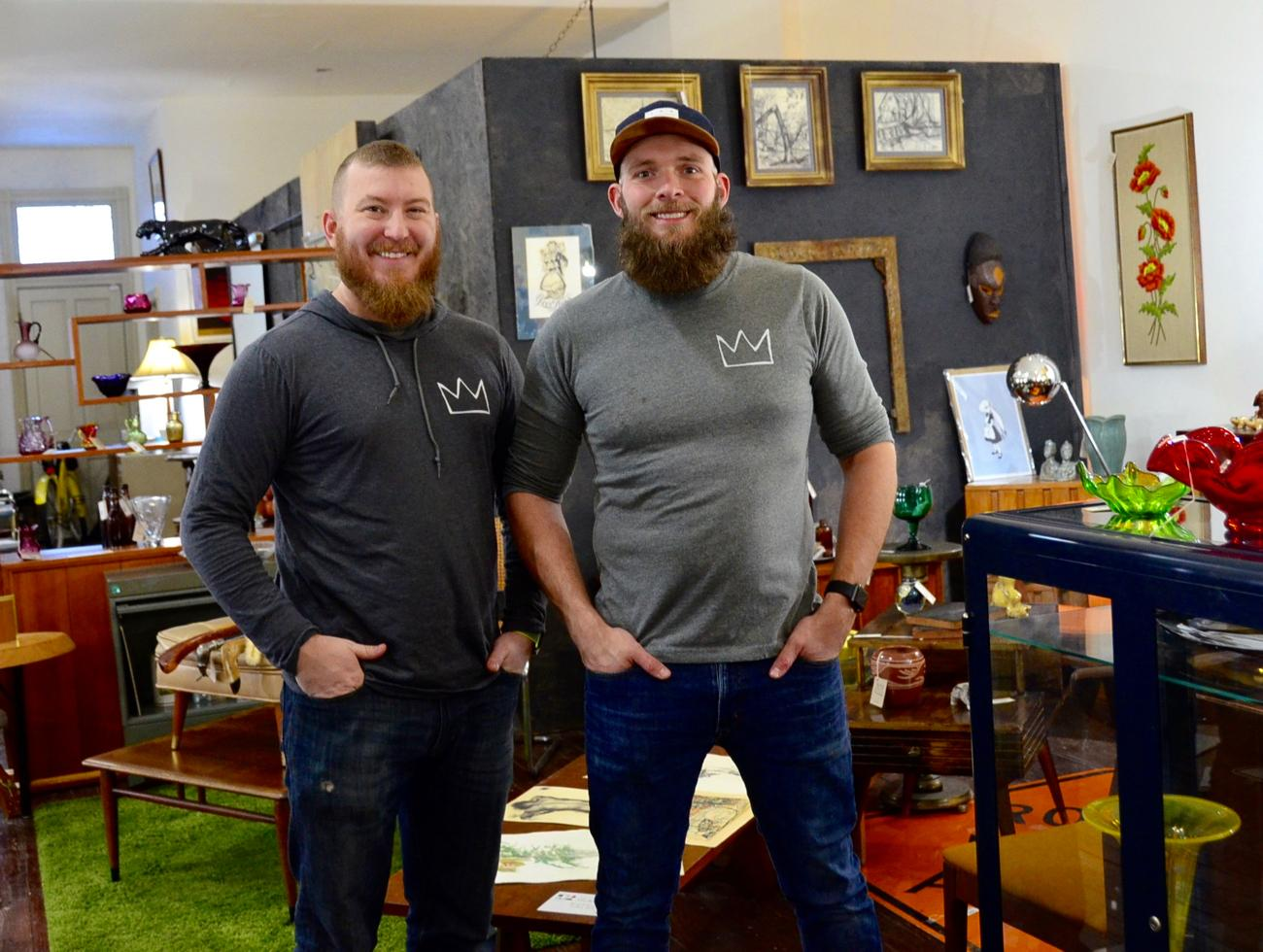 Joshua Larson and David Wenzel, owners of Wild Things Antiques / Image: Leah Zipperstein, Cincinnati Refined // Published: 1.18.18