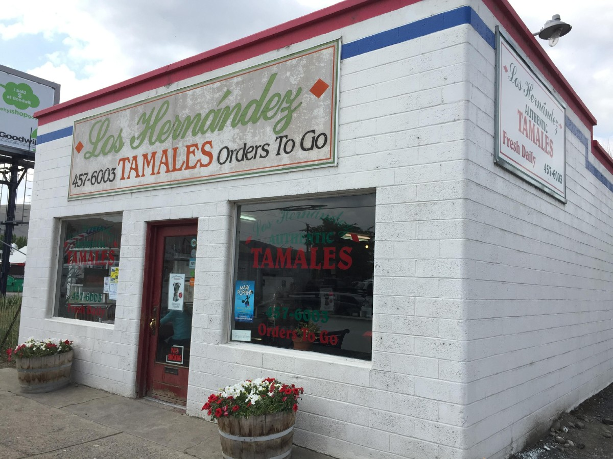 Union Gap's Los Hernandez. Home to tasty tamales and crowds lining up to take home dozens of them. (Image: Sarah Lawer)