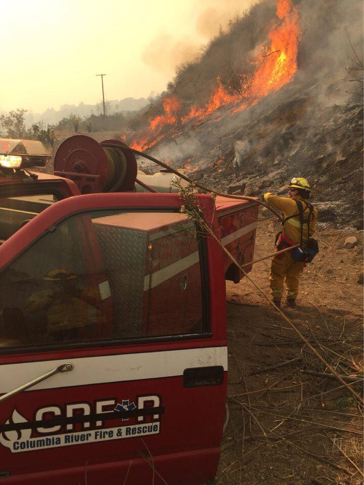 Oregon firefighters spent two weeks fighting fires in Southern California, including the massive Thomas Fire in Ventura County. (Oregon Office of the State Fire Marshal photo)