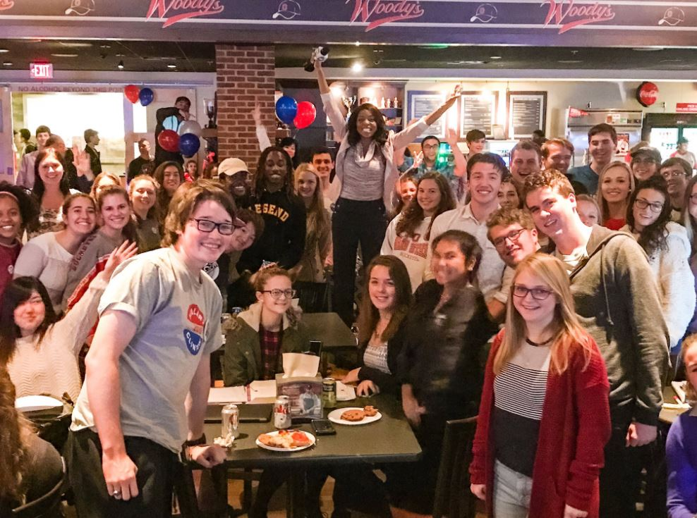 "Alissa Henry went to an election night watch party with ""millenial voters"" at Ohio State (WSYX/WTTE)"