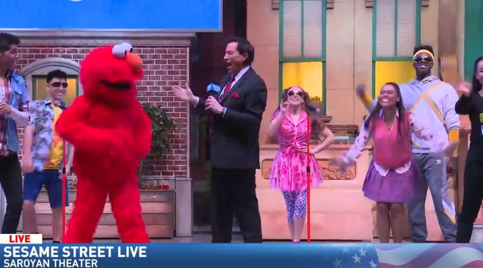 Jim hanging out with Elmo!