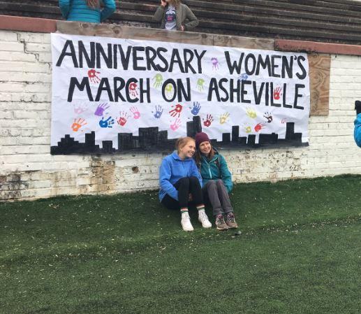The 2018 Women's March on Asheville. (Photo: WLOS staff)