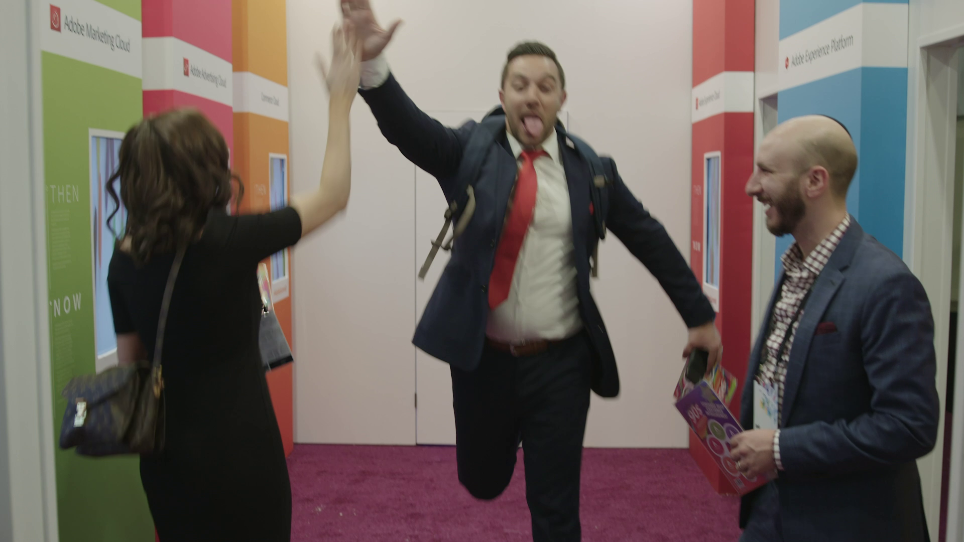 The Adobe Summit in Las Vegas features a 1994 escape the room-style event where you will explore life in a 90s corporate office, video rental store, and living room (Photos Courtesy Hotwire Global)