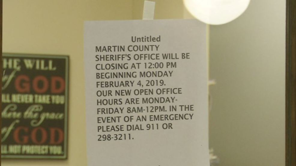 Martin County, KY sheriff cuts staff and services because of no