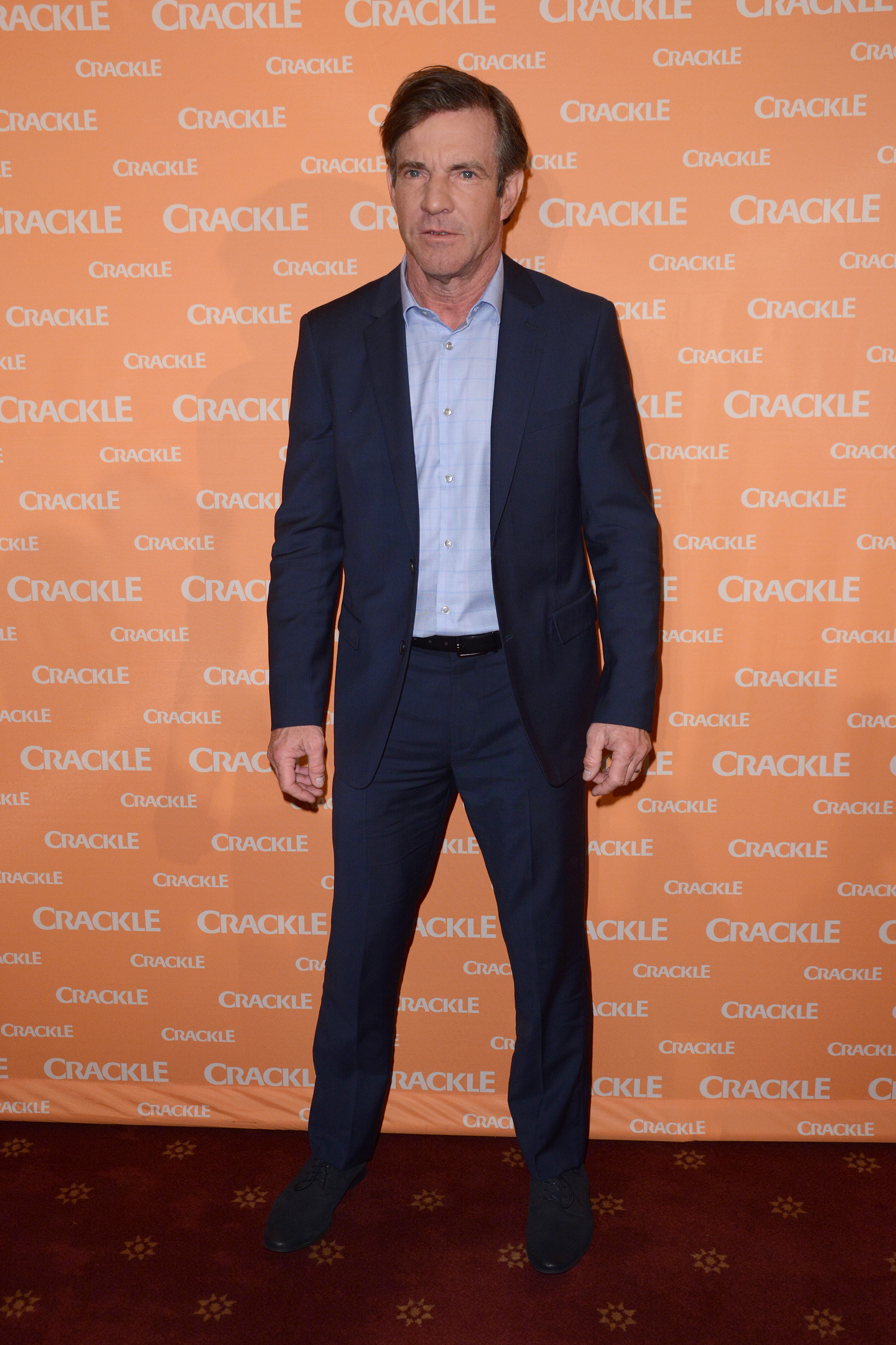 Dennis Quaid arrives at the Crackle Upfront Presentation in New York, April 20, 2016. (Ivan Nikolov/WENN)