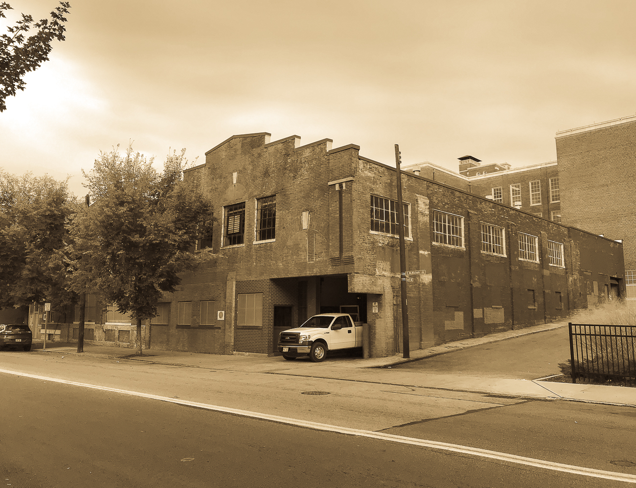 This building on McMicken Avenue once acted as the brewhouse for Bauer, Bach, and Crown Breweries. An underground tunnel beneath McMicken Ave connects the former brewhouse to the building occupied by startup Roadtrippers, which is across the street and also acted as part of the brewery operation during its heyday. Along with nearly every other brewery in town, the final brewery in the space, Crown, ended production with Prohibition. Today it is occupied by Superior Rubber Co. ADDRESS: 138 McMicken Ave (45202) / Image: Cincinnati Refined // Published: 11.5.17