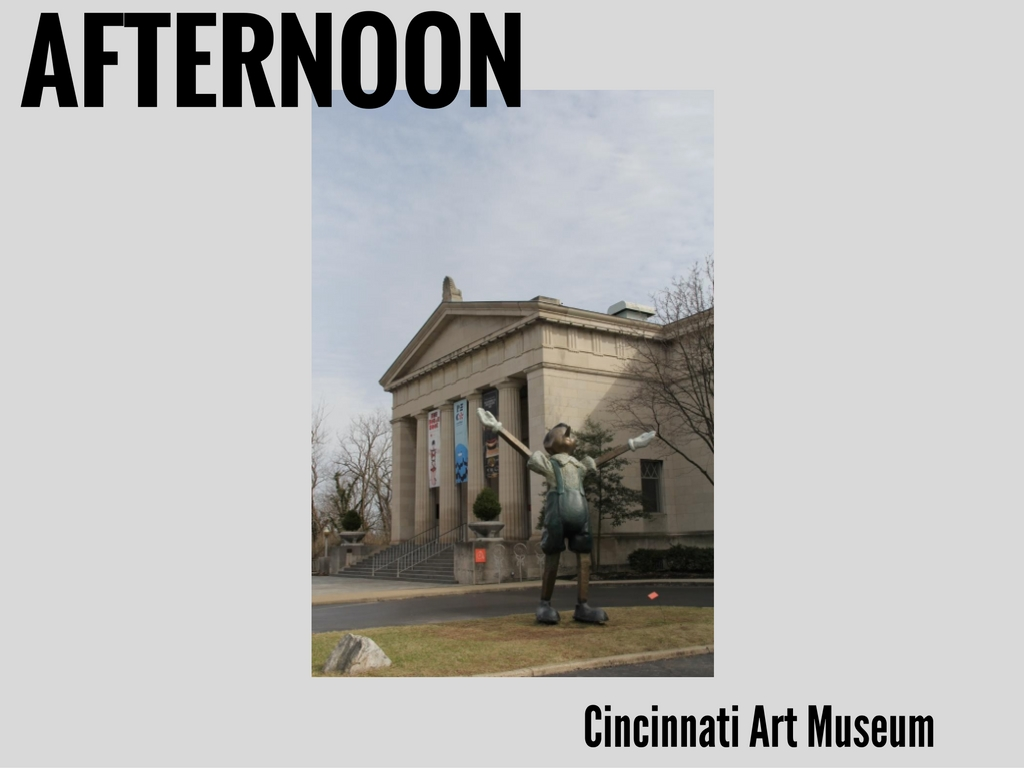 "Now that we've got a taste of it... We're gonna keep rockin' on the (slightly high-brow) ""culture"" front. Cincinnati Arts Museum is one of the city's most venerable institutions. And it's always worth a visit. / The CAM is located at 953 Eden Park Dr -- 45202. // IMAGE: Clay Griffith, Cincinnati Refined"