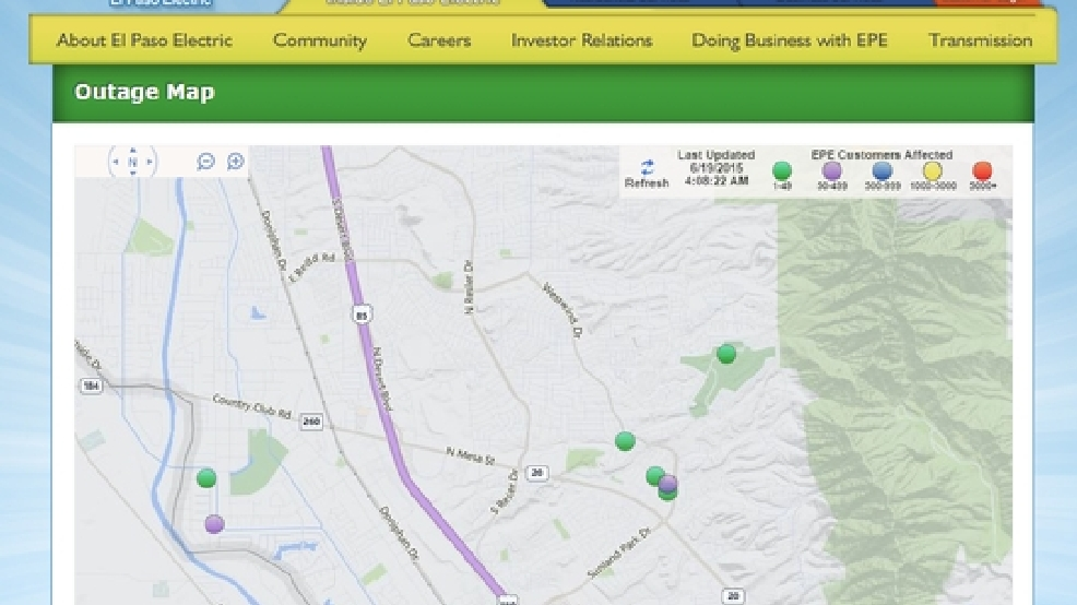 Ky Power Outage Map.Power Outage In West El Paso Leaves Some Residents In The Dark Kdbc