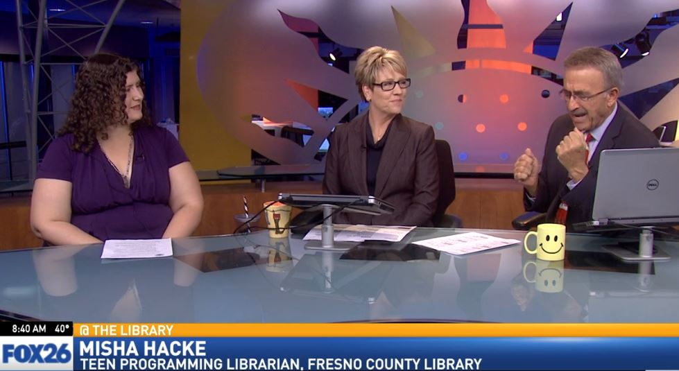 Teen programming librarian, Misha Hacke, visited Great Day to talk about what's happening at the Fresno County Library in December.