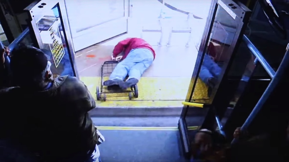 Police release video of woman pushing elderly man off bus, leading to his death