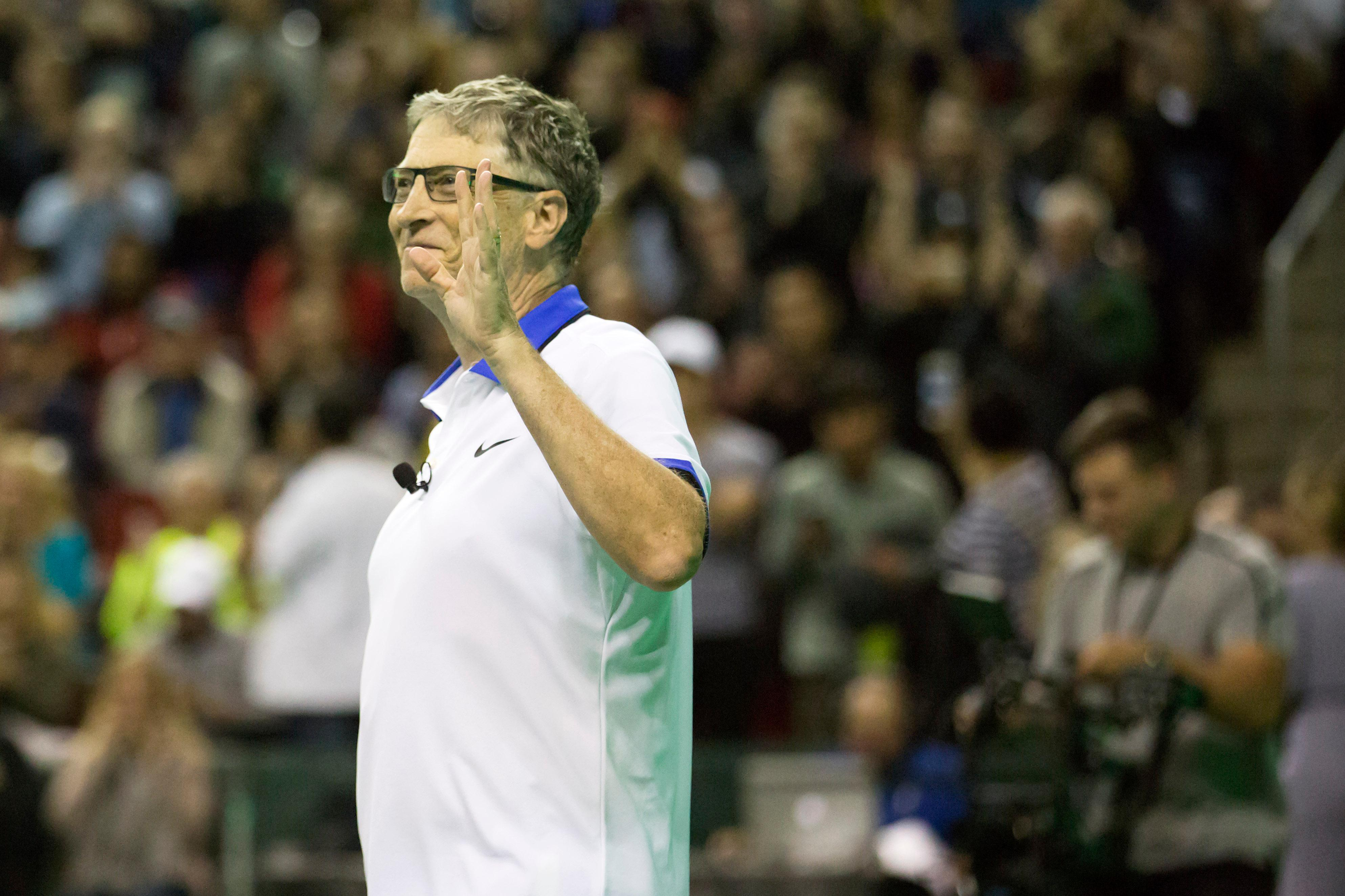 Roger Federer made his inaugural visit to Seattle Saturday night (April 29) to play a doubles match with tech titan Bill Gates, against American tennis pro John Isner and Pearl Jam's Mike McCready. The game was part of the Match for Africa 4 Seattle event, benefitting the Roger Federer Foundation. RFF supports education projects in Africa, and Federer's home country of Switzerland. After a nail-biting (and highly entertaining) match, Team Gaterer ended up sweeping Team McIsner, 6-4. (Image: Sy Bean  / Seattle Refined)