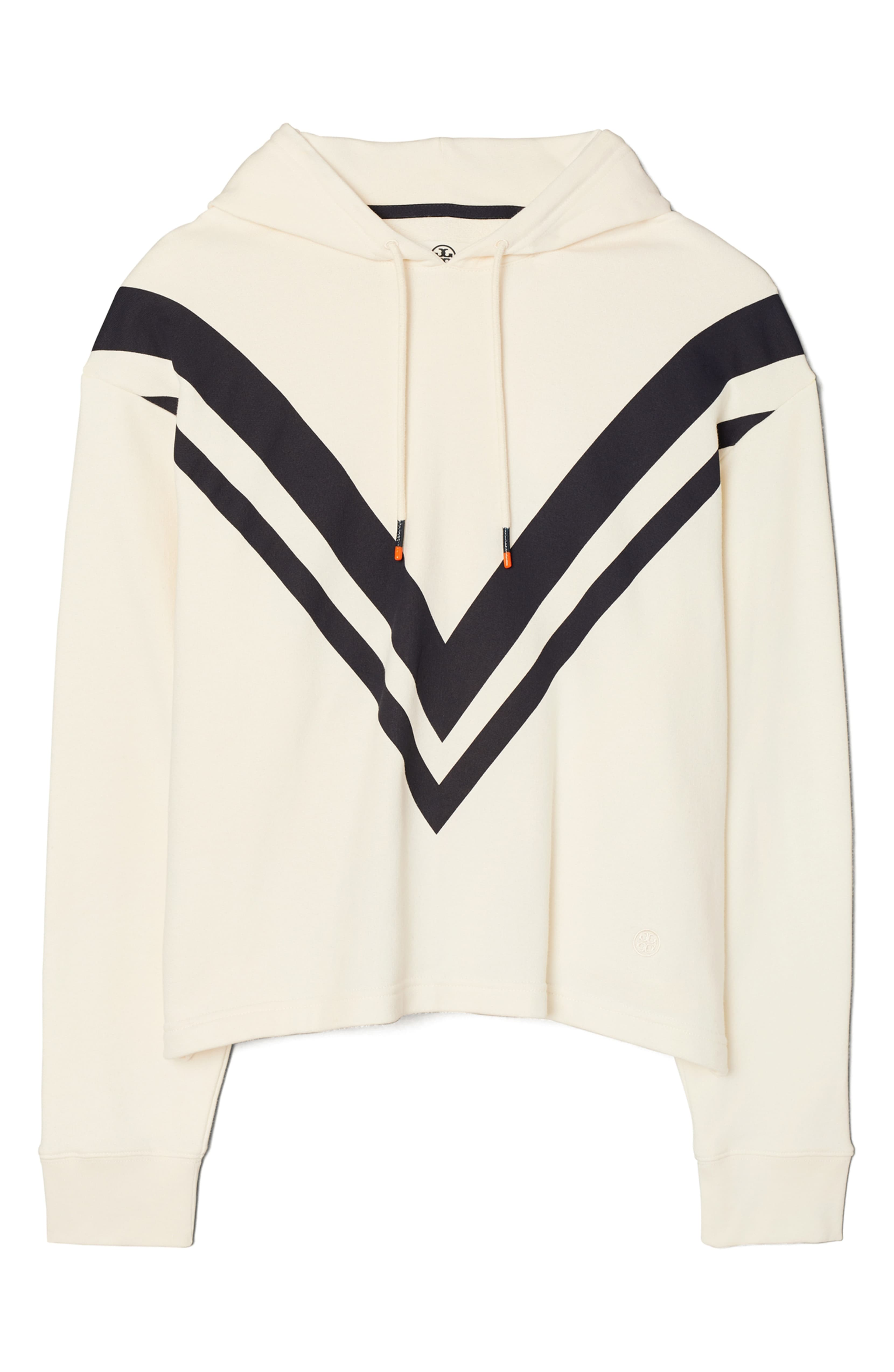 "<p>Chevron stripes are printed boldly at the front of this sporty cotton hoodie perfect for wearing to and from your next gym session.{&nbsp;}<a  href=""https://www.nordstrom.com/s/tory-sport-by-tory-burch-french-terry-chevron-hoodie/5684451?origin=category-personalizedsort&breadcrumb=Home%2FWomen%2FClothing%2FSweatshirts%20%26%20Hoodies&color=ivory%20pearl%2F%20tory%20navy"" target=""_blank"" title=""https://www.nordstrom.com/s/tory-sport-by-tory-burch-french-terry-chevron-hoodie/5684451?origin=category-personalizedsort&breadcrumb=Home%2FWomen%2FClothing%2FSweatshirts%20%26%20Hoodies&color=ivory%20pearl%2F%20tory%20navy"">Shop it</a>, $178. (Image: Nordstrom){&nbsp;}</p>"