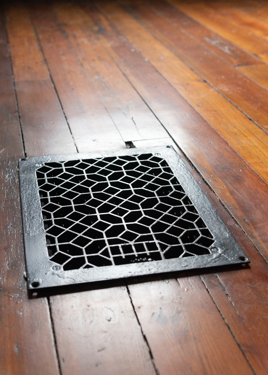 Decorative ventilation grates are found in every room. / Image: Phil Armstrong, Cincinnati Refined // Published: 3.15.19
