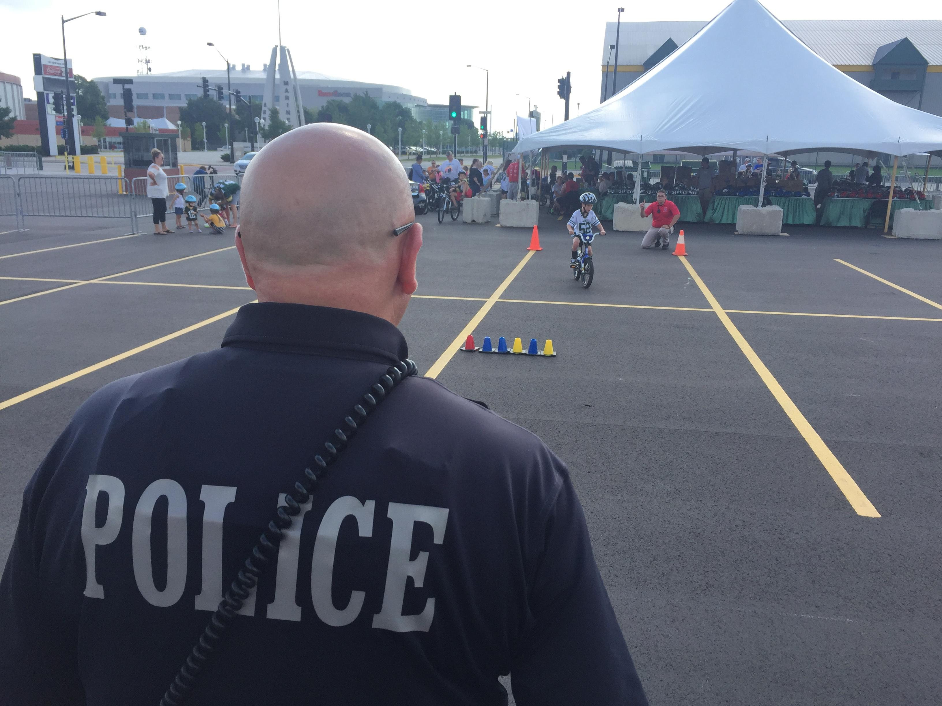 the bike rodeo an event to promote safe cycling was held in the lambeau