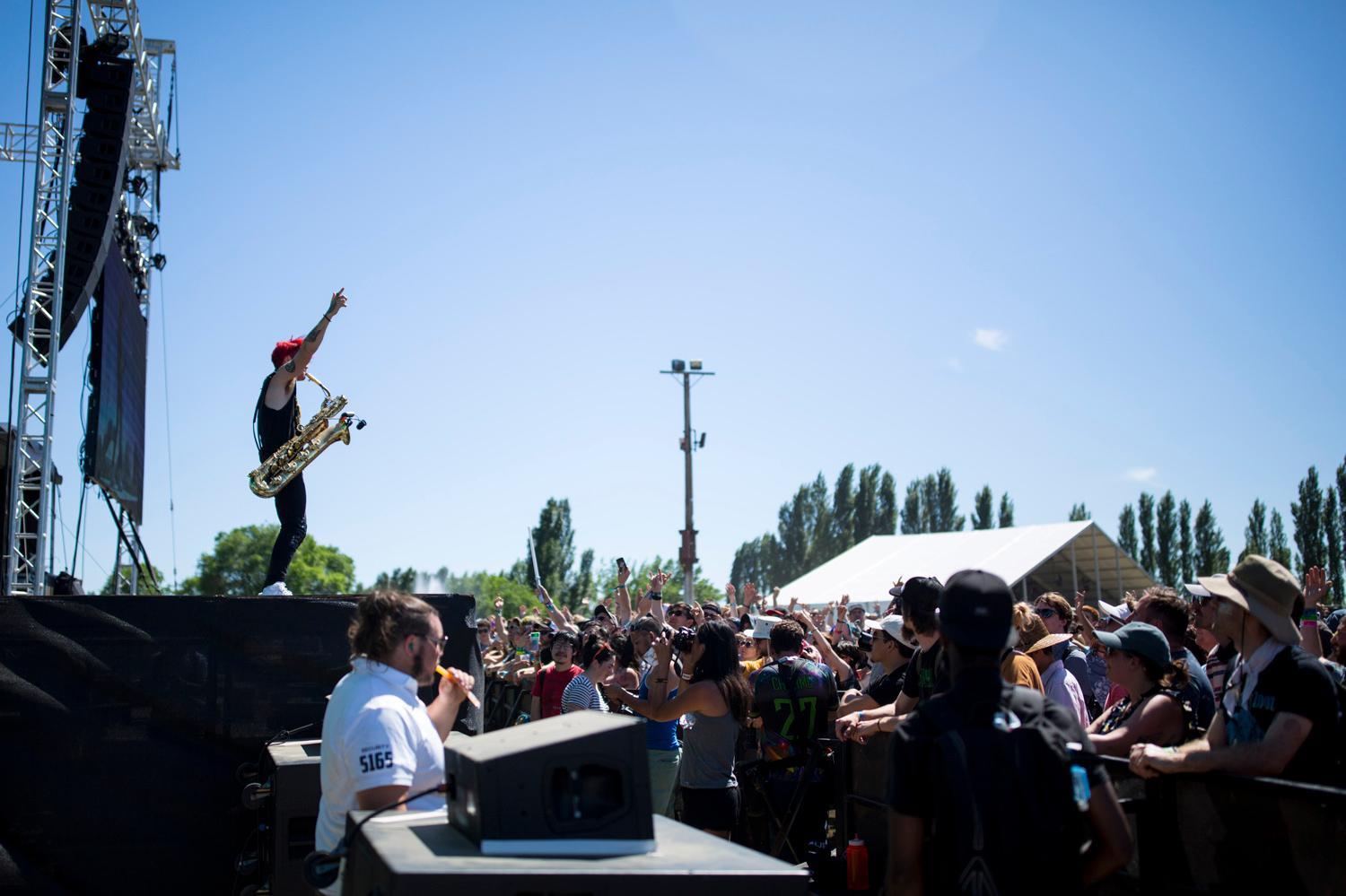 Too Many Zooz perform on the third and final day of the Sasquatch! Music Festival. See you next year Sasquatch! (Sy Bean / Seattle Refined)